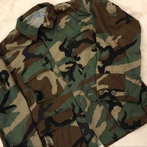 Vintage Camouflage Button Down Jacket